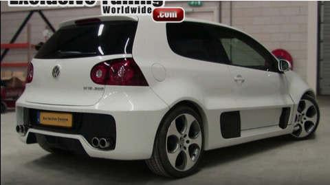 大众高尔夫W12概念车身转换高尔夫V