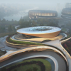 扎哈·哈迪德建筑师事务所即将在成都完成独角兽岛总体规划的视觉效果